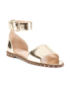 Made In Italy Soul Rockstud Leather Sandal