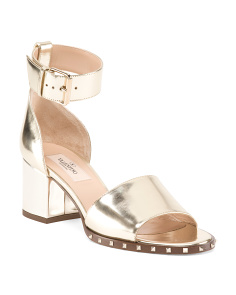 Made In Italy Soul Rockstud Leather Sandals