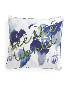 See The World Euro Pillow