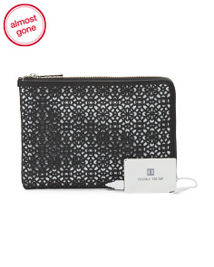 Rio Leather Tech Clutch With Charger