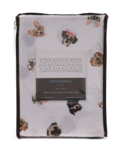 Hipster Dog Pillowcase Set