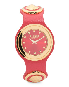 Women's Carnaby Street Lion Head Leather Strap Watch