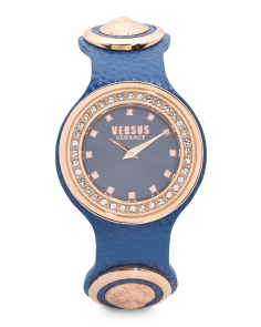 Women's Carnaby Street Swarovski Crystal Leather Strap Watch