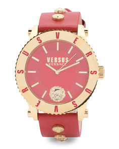 Women's Madison Coin Accented Leather Strap Watch