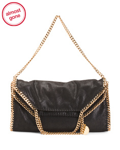 Made In Italy Shaggy Deer Chain Falabella Tote