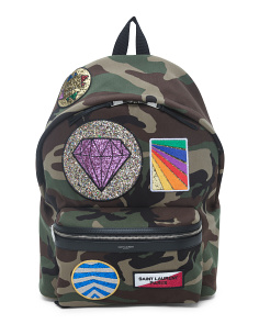 Made In Italy Multi Patch City Backpack