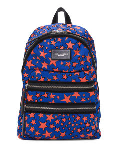 Flocked And Printed Stars Backpack
