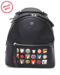 Made In Italy Mini Leather Backpack