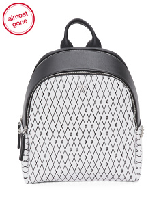 Polke Rombi Mini Leather Backpack