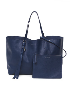 Made In Italy Small Leather Shopping Bag