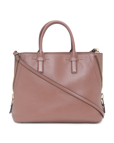 Made In Italy Leather Shopping Bag