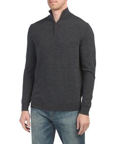 Quarter Zip Merino Wool Sweater