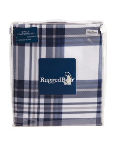Kids Chambray Grid Duvet Set