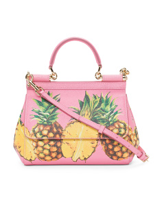 Made In Italy Ananas Leather Handbag