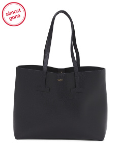 Made In Italy Raggio Di Sole Leather Tote