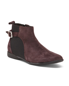 Made In Italy Suede Stretch Booties