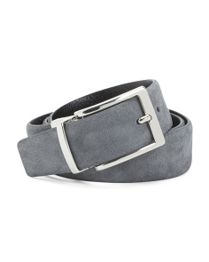 Made In Italy Suede & Leather Reversible Belt