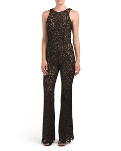 Made In Italy Floral Lace Jumpsuit