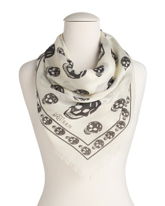 Made In Italy Foulard Skulls Silk Scarf