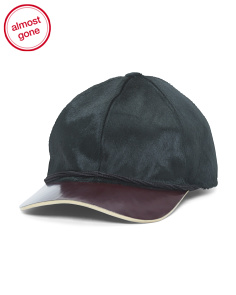 Made In Italy Leather And Haircalf Hat