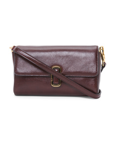 Grained Leather Crossbody