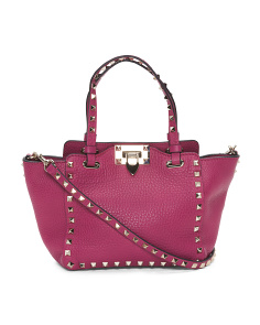 Made In Italy Rockstud Leather Handbag