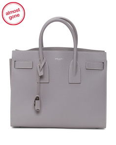 Made In Italy Sac De Jour Small Leather Satchel