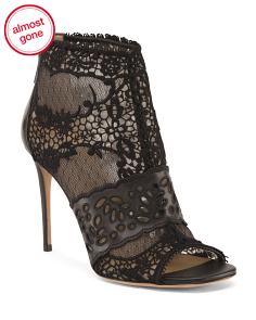 Made In Italy Laser Cut Ankle Boots