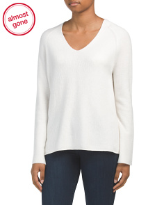 Deep V Pullover Cashmere Sweater