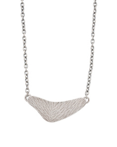 Made In USA Silver Plated Shield Necklace