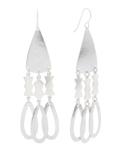 Made In USA Silver Plated Chandelier Earrings