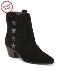 Made In Italy Suede Rockstar Booties