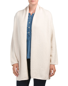 Textured Wool Blend Cardigan Sweater