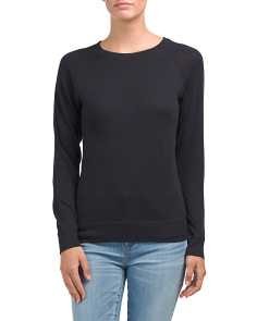 Pima Cotton Blend Pullover Tee