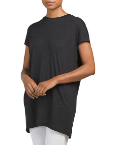 Short Sleeve Cocoon Tunic