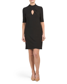 Twisted High Neck Sheath Dress