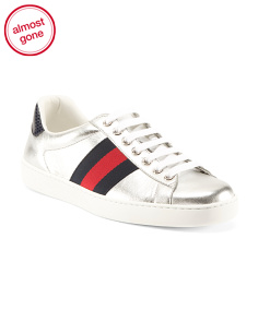 Made In Italy Metallic Leather Sneakers