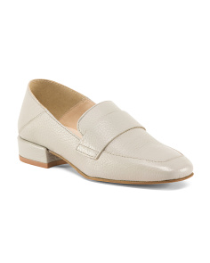 Made In Italy Pearlized Leather Loafers