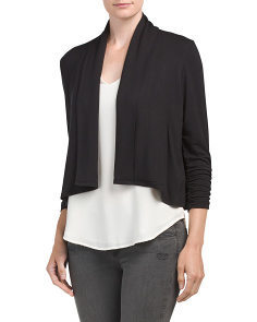 Petite Silky French Terry Cardigan