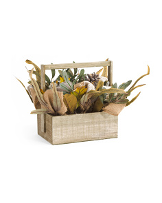 Velvet Pumpkin Wood Basket