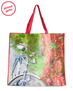 Fall Bike Ride Reusable Bag