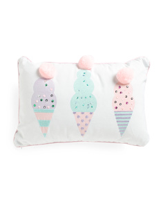 Kids 12x18 Ice Cream Pillow