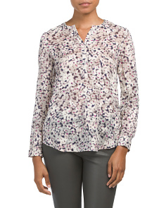Silk Oleander Contemporary Top