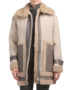 Shearling Mix Coat