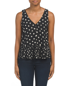 Sleeveless Dandelion Printed Top