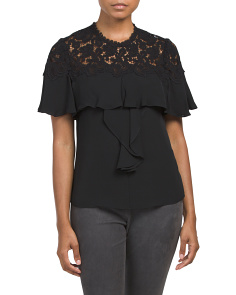 Silk Blend Lace Top