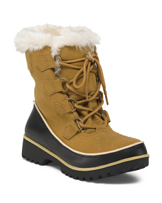 Lace Up Lug Sole Boots