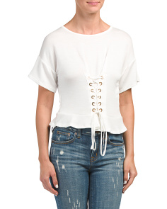 Juniors Made In USA Corset Top