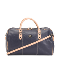 Made In Italy East West Leather Weekender
