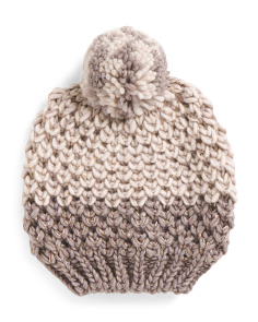 Made In Italy Chunky Pom Pom Hat